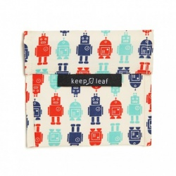 Keep Leaf Large Reusable Baggie - Robot